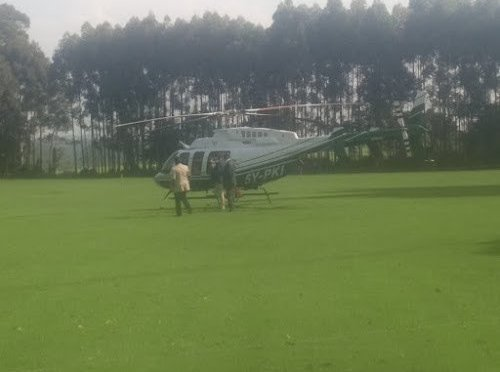 Change in plans as Mutahi Kagwe's chopper fails to take off.